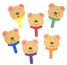 Bear Emotions Masks