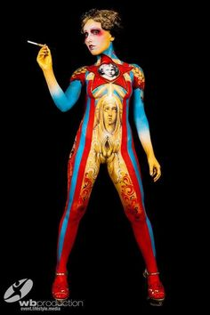 Precioso body painting no os parece face painting pinterest