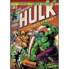 Incredible Hulk & Wolverine Comic Cover Giant Wall Decal