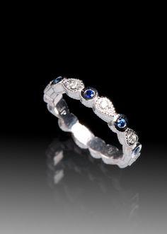 JPratt Designs: Custom designed Sapphire and Diamond Ladies Band