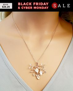 ROSE GOLD Family Tree Necklace Personalized by LaLaCrystal on Etsy