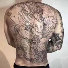 Koi Tattoo Back Piece Irezumi tattoos - Tattoo MAG Backpiece Tattoo, Irezumi Tattoos, Marquesan Tattoos, Back Piece Tattoo Men, Dragon Tattoo Back Piece, Dragon Tattoo Designs, Tattoo Designs Men, Full Body Tattoo, Body Art Tattoos