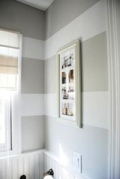 stripes with wainscoting