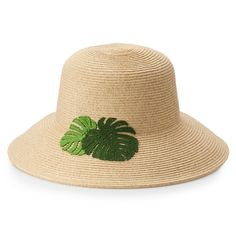 Get warm-weather style when you top off your summery look with this women's floppy hat, featuring leaf embroidery. Floppy Sun Hats, Embroidered Leaves, Dark Beige, Sonoma Goods For Life, How To Get Warm, Warm Weather, Embroidery, Sew, Products