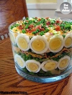 7 Layer Salad with Thousand Island Dressing..   #theteadetox #diet #detox #salad #cleaneating