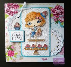 Karen Foy - Card using the Verity Rose collection