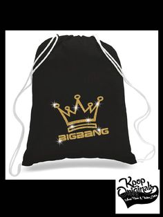 New CONCERT CINCH BACKPACK (Keep your fan merch close during the concert!) Big Bang, Twice, ikon, BlackPink -Cotton Canvas Cinch Trendy Bag by KpopOriginals on Etsy