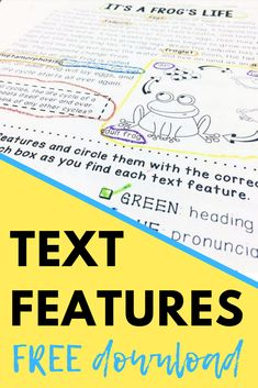 This blog post is full of tips for teaching text features. Plus, grab a free text features worksheet!