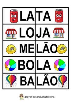 Jogo para alfabetização letras J - L - M palavras dissílabas ~ Espaço do Professor