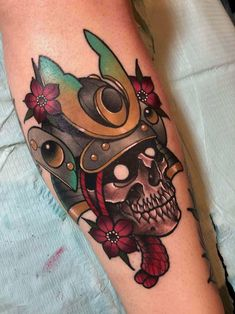 Skull Samurai by Nick Keiser (deadmeat) at Materia Tattoo in Downingtown, PA