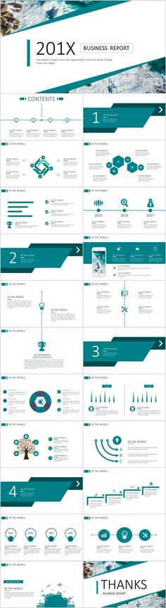 Business infographic : 23 Blue business chart report PowerPoint templates on Behance Simple Powerpoint Templates, Keynote Template, Report Template, Business Presentation, Presentation Design, Web Design, Design Trends, Graphic Design, Pitch Deck