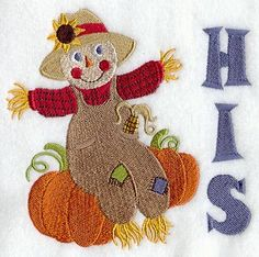 Autumn Scarecrow - His design (C5090) from www.Emblibrary.com