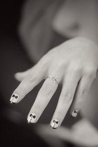 Tuxedo Suit Nails