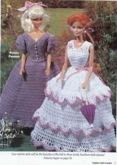 CROCHET, Barbie Dress pattern http://knits4kids.com/collection-en/library/album-view?aid=3684