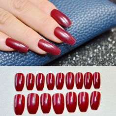 1 kit=24pcs Ballerina Press On Nails Dark Red Lady Acrylic Nail Tips for Fingers Medium Simple Daily Wear Artificial Nails 130B #Coffin nails http://www.ku-ki-shop.com/shop/coffin-nails/1-kit-24pcs-ballerina-press-on-nails-dark-red-lady-acrylic-nail-tips-for-fingers-medium-simple-daily-wear-artificial-nails-130b/