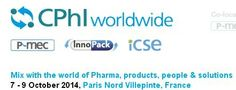 CPhI worldwide 2014 gives a platform to join 30,000 senior pharma professionals from 140+ countries in one place; meet existing and new suppliers under one roof.   Location FRANCE    Paris Nord Villepinte, France. Email ID : Martin.wilson@ubm.com URL : http://www.cphi.com/europe/ Contact Person : Martin Wilson Phone No : +44 1502 476216  Start Time Tuesday, October 7th, 2014,12:00:00 AM End Time Thursday, October 9th, 2014,12:00:00 AM