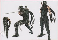 Character Model Sheet, Character Modeling, Character Design, Shuriken, Katana, Ryu Hayabusa, Dragon Ninja, Ninja Gaiden, Apex Predator