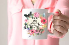 Mother's Day Mug/ Mothers Day gift/ watercolor by EllenCrimiTrent