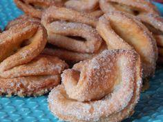 Kruche ciasteczka twarogowe Paczki Donuts, Onion Rings, Apple Pie, Sweet Recipes, French Toast, Sweets, Cookies, Baking, Breakfast