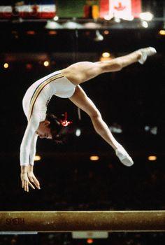Nadia Comăneci's great rival Teodora Ungureanu at the 1976 Olympics