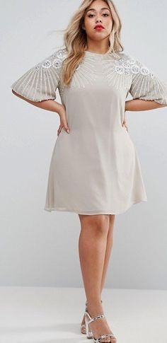 f79c4ef1392 36 Plus Size Wedding Guest Dresses  with Sleeves