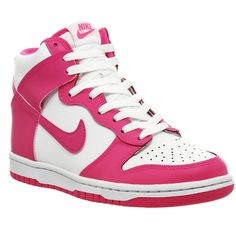 6f1e045eac6a Nike Dunk Hi Gs ( 80) ❤ liked on Polyvore featuring shoes