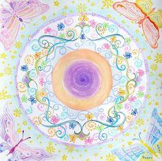The air element butterfly mandala Fine Art Signed by mandalamagic1