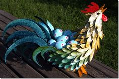 tutorial paper mache and egg carton rooster