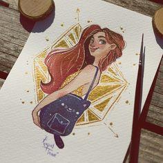 Red head girl by @raqueltraveillustration