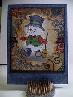 Cute little snowman card