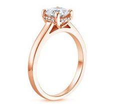 brilliant earth; rose gold and surprise diamonds