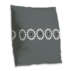 Custom Divine Retro Style Gray Burlap Throw Pillow, editable monogram.