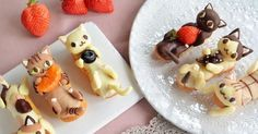 pate choux with chocolate kitties for decor