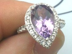 10k Ring With 4.58ctw Amethyst and Topaz Size N RRP £602 in Gemstone | eBay