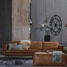 3 sitzer sofa ulada in braun aus recyceltem leder braunes ledersofa braunes sofa leder