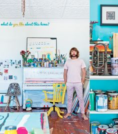Home Tour: Colourful Home of Sydney Artist – Bright.Bazaar