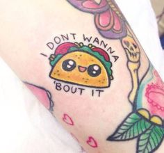 Taco Tattoos for Taco Tuesday very adorable
