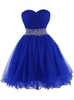 Image of Beautiful Wine Red Short Tulle Homecoming Dresses, Short Prom Dresses, Party Dresses Blue Homecoming Dresses, Strapless Prom Dresses, Beaded Prom Dress, Short Bridesmaid Dresses, Prom Dresses Blue, Ball Dresses, Evening Dresses, Party Dresses, Quinceanera Dresses