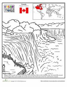 Worksheets: Color the World! Niagara Falls