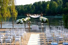 Civil Ceremony by the River in Lake Garda Italy Lake Garda Italy, Civil Ceremony, River, Table Decorations, Gallery, Registry Office Wedding, Rivers, Dinner Table Decorations
