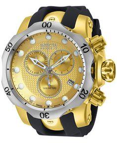 Invicta Men's Chronograph Reserve Venom Black Polyurethane Strap Watch 54mm 16151 - Watches - Jewelry & Watches - Macy's