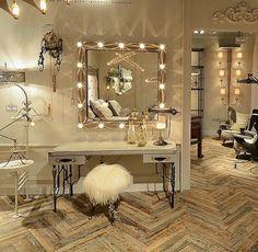 Glamorous dressing/powder room
