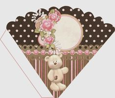Teddy Bear Party, Teddy Bears, Oh My Fiesta, Gold Baby Showers, Small Gift Boxes, Parchment Craft, Tatty Teddy, Free Printables, Floral