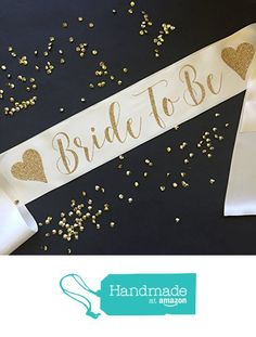 Bride to Be Bachelorette Party Sash with Hearts from White Rabbits Design https://www.amazon.com/dp/B01N53S4LT/ref=hnd_sw_r_pi_dp_teVlyb933TTYP #handmadeatamazon