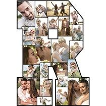 This Photo Letter R will feature a collage of your very own photos! Use Photo Letters to accent your table at graduation parties, weddings and more. Graduation Party Planning, Graduation Parties, Photo Cutout, Photo Letters, Vegas Style, Holiday Costumes, Face Photo, School Colors, Wooden Crafts