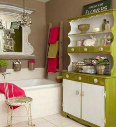 design vintage salle de bains commode