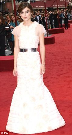 Show stopper: Keira Knightley in @Chanel at the Anna Karenina premiere in London