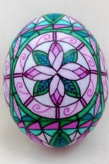 stained glass pysanky eggs | ... stained glass stained glass design on a chicken egg by dore douty 2 1