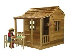 Get the Outdoor Living Today Partnership Little Squirt Playhouse windows and flower boxes western red cedar stands up to most weather conditions and insects at The Home Depot Wooden Playhouse Kits, Cedar Playhouse, Outside Playhouse, Backyard Playhouse, Build A Playhouse, Kids Playhouse Plans, Play Houses, Tree Houses, Gazebo