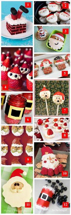 Holiday Roundup: Edible Santas · Edible Crafts | CraftGossip.com  http://ediblecraftsonline.com/ebook2/mybooks73.htm?hop=megairmone